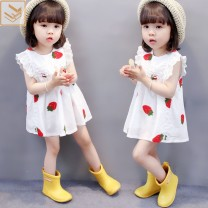 Dress White, black, ivory strawberry skirt with bag 511 female Other / other 80 is suitable for height of 75 cm, 90 is suitable for height of 70-80cm, 100 is suitable for height of 80-90cm, 110 is suitable for height of 90-100cm, 120 is suitable for height of 100-110cm Other 100% summer princess