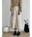 skirt Spring 2021 S,M,L Apricot Mid length dress Retro High waist A-line skirt Solid color Type A 18-24 years old 91% (inclusive) - 95% (inclusive) other hemp 301g / m ^ 2 (including) - 350g / m ^ 2 (including)
