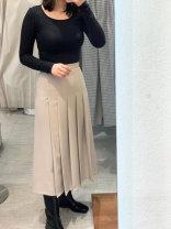 skirt Spring 2021 S, M Black, Khaki