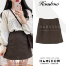 skirt Autumn of 2019 S,M,L,XL coffee Short skirt commute High waist A-line skirt Solid color 18-24 years old 71% (inclusive) - 80% (inclusive) Wool Other / other zipper Korean version