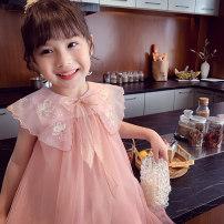 Dress Pink , Apricot , green female Mimihello 90cm,100cm,110cm,120cm,130cm,140cm,150cm Other 100% summer Korean version Skirt / vest Cartoon animation Netting Splicing style SL321171 Class B 2, 3, 4, 5, 6, 7, 8, 9, 10 years old Chinese Mainland