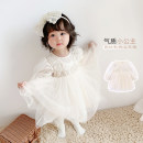 Dress Beige female What's going on 66cm,73cm,80cm,90cm,100cm,110cm,120cm Other 100% spring and autumn lady Solid color other other 12 months, 6 months, 9 months, 18 months, 2 years old, 3 years old, 4 years old, 5 years old Chinese Mainland