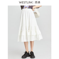 skirt Spring 2021 26 27 28 29 white longuette fresh High waist A-line skirt Solid color Type A 25-29 years old AAD0510331 More than 95% Westlink / Xiyu polyester fiber Lotus leaf edge Polyester 98% polyurethane elastic fiber (spandex) 2% Same model in shopping mall (sold online and offline)