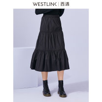 skirt Autumn 2020 26 27 28 29 black Mid length dress commute High waist Cake skirt Solid color Type A 18-24 years old More than 95% other Westlink / Xiyu cotton zipper Simplicity Cotton 100% Same model in shopping mall (sold online and offline)