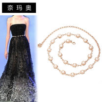 Belt / belt / chain other Sunflower pearl single row pearl double row Pearl female Waist chain Sweet Single loop Children, youth, middle age a hook Flower design Glossy surface 1.5cm alloy Namao 1cm Spring and summer 2011