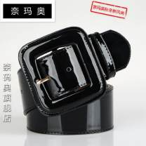 Belt / belt / chain Double skin leather Red and black female belt Versatile Single loop Youth Pin buckle Glossy surface Patent leather 4.8cm alloy Bare body frosting Namao 5D5931044 Spring 2016