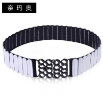 Belt / belt / chain Double skin leather Sky blue light green pearl white purple rubber red rose red light yellow black female Waistband Versatile Single loop Youth, middle age and old age a hook Glossy surface Glossy surface 5cm alloy Bare hollow thick line decorative candy color elastic Namao yes