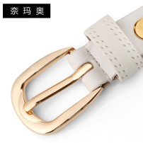 Belt / belt / chain Double skin leather Camel Elegant White Retro coffee charm Red Classic Black female belt Versatile Single loop Middle aged youth Pin buckle Leather decoration Embossing 1.8cm alloy Ginned lace Namao CTLS-N1310 105cm 95cm 100cm 110cm 115cm Spring and summer 2011 yes
