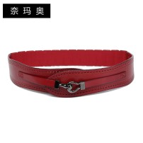 Belt / belt / chain top layer leather female Waistband grace Single loop Young and middle aged a hook Leather decoration Frosting 5.5cm alloy Frosting Namao 1cm Spring and summer 2011