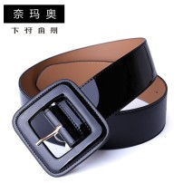 Belt / belt / chain Double skin leather Jujube Black female belt Versatile Single loop Youth, middle age and old age Pin buckle Glossy surface Patent leather 4.7cm alone Namao CTLS-N1325 1cm Spring and summer 2011