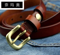 Belt / belt / chain top layer leather 051 natural color 051 reddish brown 051 coffee 051 black currency belt Versatile Single loop Youth, middle age and old age Pin buckle Glossy surface Glossy surface 1.9cm copper alone Namao K617 100cm 105cm 110cm 115cm Spring and summer 2011
