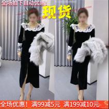 Dress Autumn 2020 Black dress, dark blue dress with bandage S,M,L,XL,XXL
