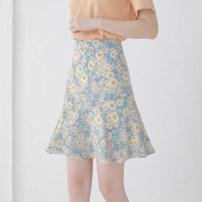 skirt Summer 2020 XS/26 S/27 M/28 L/29 XL/30 2XL/31 Daisy Short skirt commute High waist A-line skirt Broken flowers Type A 25-29 years old More than 95% Chiffon Kou Yanbin polyester fiber Korean version Polyester 100% Pure e-commerce (online only)
