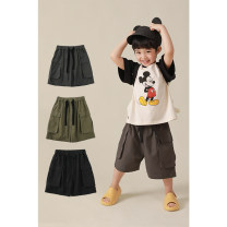 trousers Yoehaul / youyou male 80cm,90cm,100cm,110cm,120cm,130cm,140cm Black, gray, army green, army green (pre-sale), black (pre-sale), gray (pre-sale) summer shorts leisure time There are models in the real shooting Casual pants Leather belt middle-waisted Cotton blended fabric Other 100% N1504