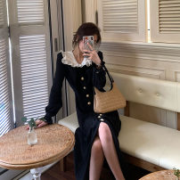 Dress Autumn 2020 Black dress S M L XL longuette singleton  Short sleeve commute Doll Collar High waist Solid color Socket A-line skirt routine Others 25-29 years old Type A Fayiduo Korean version C8N4729 More than 95% other other Other 100% Pure e-commerce (online only)