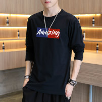 T-shirt Youth fashion routine M L XL 2XL 3XL 4XL X.K.E Long sleeves Crew neck easy daily Four seasons SS85E855885 Cotton 100% youth routine tide Knitted fabric Summer of 2019 Cartoon animation printing cotton Geometric pattern tto  Domestic non famous brands Pure e-commerce (online only)