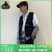 Vest / vest Youth fashion X-LARGE S M L XL Black - Black Other leisure easy Vest youth 2020 zipper Cotton 100% Spring 2020 Same model in shopping mall (sold online and offline)