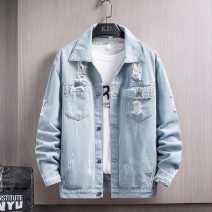 Jacket Other / other Youth fashion Light blue, apricot, black M,L,XL,2XL,3XL,4XL routine Self cultivation Other leisure Four seasons YD602X50 Long sleeves Wear out Lapel tide youth routine zipper 2021 Straight hem Closing sleeve Solid color Denim Side seam pocket