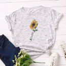 T-shirt S,M,L,XL,2XL,3XL,4XL,5XL Summer 2020 Short sleeve Crew neck easy Regular routine street cotton 96% and above 18-24 years old originality Plants, flowers, geometric patterns, letters printing Europe and America