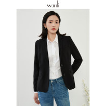 suit Spring 2020 Black blue stripe S M L XL Long sleeves routine Straight cylinder Refutation Single breasted commute routine Solid color 25-29 years old 30% and below Viscose Wanli (clothing) New polyester fiber 67% viscose fiber (viscose fiber) 30% polyurethane elastic fiber (spandex) 3%