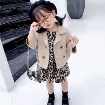 suit Other / other Picture color two piece suit, separate coat 80cm height for size 80, 90cm height for Size 90, 100cm height for size 100, 110cm height for Size 110, 120cm height for Size 120, 130cm height for Size 130 female spring and autumn Korean version routine Single breasted 3 months