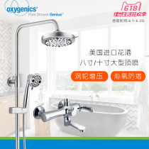 Shower faucet (suit) Rotatable belt lifting Oxygenics Double shower faucet copper Wall mounted Single handle double control Intra city logistics delivery seven hundred and twenty-three thousand six hundred and one circular