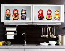 Wall stickers PVC Russian Doll Small Flat wall sticker Waterproof wall sticker set Children's room 1 tablet Cartoon animation Simple and modern Amega  Amega