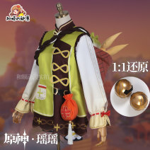 Cosplay women's wear suit goods in stock Over 14 years old Full set of clothes + accessories [excluding basket], full set of clothes + accessories [including basket + doll] game S,M,L,XL Heshun animation Chinese Mainland Lovely wind Original God Yuanshen Yaoyao cos clothing