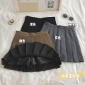 skirt Autumn 2020 S,M,L,XL Grey, black, brown Short skirt commute High waist Pleated skirt Solid color Type A 18-24 years old N10.6 Korean version