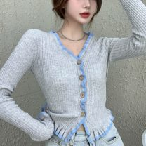 Wool knitwear Spring 2021 Average size Graph color Long sleeves singleton  Cardigan nylon 31% (inclusive) - 50% (inclusive) have cash less than that is registered in the accounts commute Self cultivation Socket Korean version B2 18-24 years old Other / other