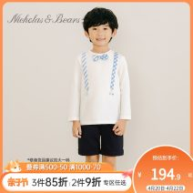 Sweater / sweater Nicholas & Bears Light grey off white male 73cm 80cm 90cm 100cm 110cm 120cm 130cm 140cm 150cm 155cm spring and autumn nothing cotton other Cotton 95% other 5% PUO0005AI1
