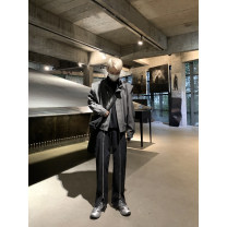 Jacket Other / other Youth fashion Black, gray S,M,L routine easy Other leisure spring Long sleeves Wear out stand collar Exquisite Korean style youth routine Zipper placket 2021 Rib hem Solid color polyester fiber More than 95%
