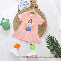 Dress female Other / other Cotton 95% hemp 5% summer Korean version Short sleeve Cotton and hemp Lotus leaf edge Class B Chinese Mainland Zhejiang Province Taizhou City