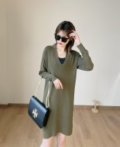 Dress Spring 2021 Pickle green XS,S,M Long sleeves 51% (inclusive) - 70% (inclusive)
