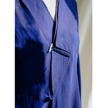 Cotton padded clothes royal blue S. M, l, XL, custom Spring 2021 LanJin have more cash than can be accounted for Long sleeves routine Single breasted commute stand collar routine Straight cylinder Solid color Retro 96% and above silk 35-39 years old