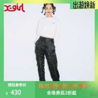 Casual pants Black black gray olive 21 Winter of 2019 trousers Straight pants Natural waist X-GIRL Polyamide fiber (nylon) 100% Same model in shopping mall (sold online and offline)