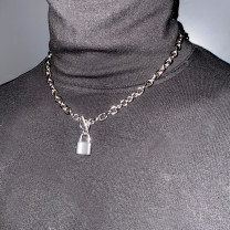 Necklace Titanium steel 1001-3000 yuan Other / other Titanium steel clavicle Necklace brand new Japan and South Korea lovers goods in stock yes Fresh out of the oven no Not inlaid Titanium steel