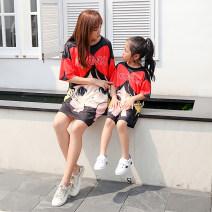 Women's large Winter 2021 gules T-shirt singleton  easy Socket Short sleeve Medium length Red rose
