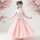 Tang costume 110,120,130,140,150,160,170 Cotton 100% female spring and autumn There are models in the real shooting routine KORSZ other Class B Plants and flowers Cotton liner Chinese Mainland Shanghai