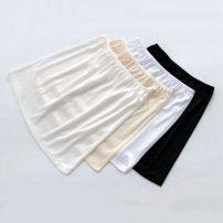 skirt Spring 2021 S,M,L,XL White short, black short, apricot short, milk white short, white medium long, black medium long, apricot medium long, milk white medium long Short skirt A-line skirt Solid color