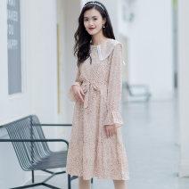 Dress Summer 2021 apricot flower S,M,L,XL A7L1036003