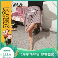skirt Summer 2020 S M L Smoke purple Short skirt Natural waist A-line skirt Type A 18-24 years old ten million two hundred and seventeen thousand and eight More than 95% Elf sack / goblin's pocket other Other 100%