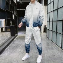 Leisure sports suit autumn M,L,XL,2XL,3XL,4XL Blue, gray, green, 7105 black, 7105 white Long sleeves Karliondan / kaishidan trousers youth Sweater 261B503 705 polyester fiber 2020