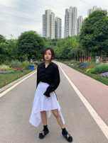 skirt Summer 2020 XXS,XS,S,M white Mid length dress sexy High waist Irregular Solid color Type A 18-24 years old 31% (inclusive) - 50% (inclusive) other Other / other cotton Lotus leaf edge 401g / m ^ 2 (inclusive) - 500g / m ^ 2 (inclusive)