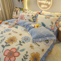 Bedding Set / four piece set / multi piece set Polyester (polyester fiber) Quilting Plants and flowers other Maoxing (bedding) Others 4 pieces other Sheet and fitted sheet Qualified products Countryside other Reactive Print  C202008291