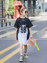 Dress white female Other / other 120cm,130cm,110cm,140cm,150cm,160cm Cotton 95% other 5% summer Korean version Short sleeve other cotton A-line skirt Class B Chinese Mainland