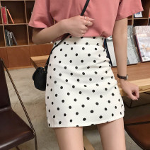 skirt Summer 2021 M,L,XL,2XL,3XL,4XL Black, white Short skirt Versatile High waist A-line skirt Dot Type A 18-24 years old 81% (inclusive) - 90% (inclusive) other Other / other polyester fiber Zipper with safety pants inside 161g / m ^ 2 (including) - 180g / m ^ 2 (including)