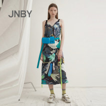 Dress Spring 2021 901 / multicolor hybrid / gradual920 / khaki multicolor hybrid 901 / multicolor hybrid / gradual920 / khaki multicolor hybrid (same material, different batches) XS S M L XL longuette Sleeveless commute V-neck Big flower Socket other routine camisole 25-29 years old Type A Simplicity