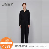 Casual pants 001 / Ben Hei XSSMLXL Spring of 2018 Ninth pants Jumpsuit Natural waist Other styles routine 25-29 years old 71% (inclusive) - 80% (inclusive) 5IB341470 JNBY / Jiangnan cloth clothing wool wool Wool 78% polyester 9% Silk 9% polyurethane elastic fiber (spandex) 4%