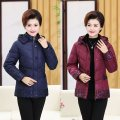 Middle aged and old women's wear Spring 2021 leisure time Cotton easy singleton  Solid color Cardigan thick Hood routine routine pocket polyester 71% (inclusive) - 80% (inclusive) zipper